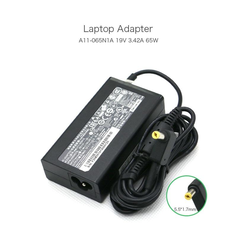 New Product 65W 19V 3.42A 5.5*1.7mm A11-065N1A A065R078L Laptop Adapter For GATEWAY NV5213U NV5214U MD2614U MD7820U