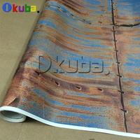 New Auto Styling 1.52*30m/roll Iron Rusting Colored Rusty Style Car Body Sticker Bomb Wrap Vinyl Rust Doomsday Covering Film