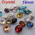 By06 colores de la mezcla 18 mm 10 unids/lote Rivoli Rhinestones de los cristales Pointback grandes diamantes de imitación de Perfect brillante DIY accesorios de la joyería