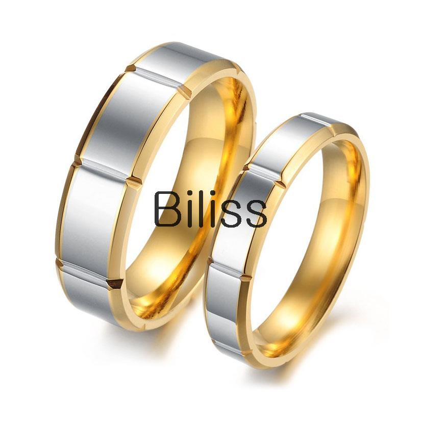 Aliexpress Buy Fashion Rings Stainless Steel Gold Silver Two