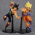 Dragon Ball ZOKEI 5 Son Goku VS Barduck PVC Figuras de Ação Colecionáveis Brinquedos Modelo 2 pçs/set 22 cm
