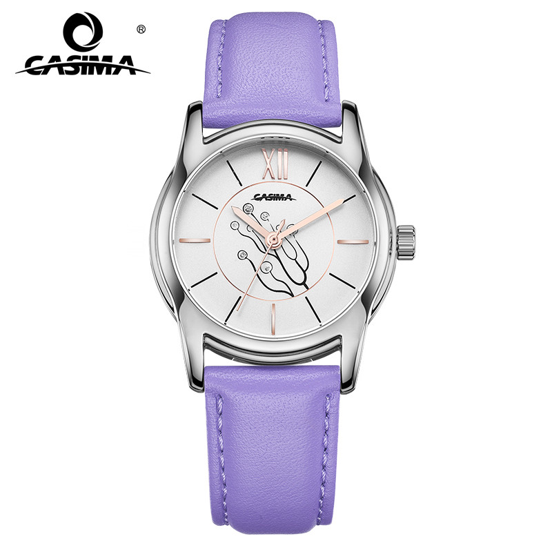 Relogio Feminino CASIMA Women Watches Fashion Waterproof Leather Bracelet Ladies Quartz Wrist Watch Clock Saat 2018 Montre Femme casima women watches waterproof fashion ladies leather rhinestone gold quartz wrist watch clock woman 2018 saat relogio feminino