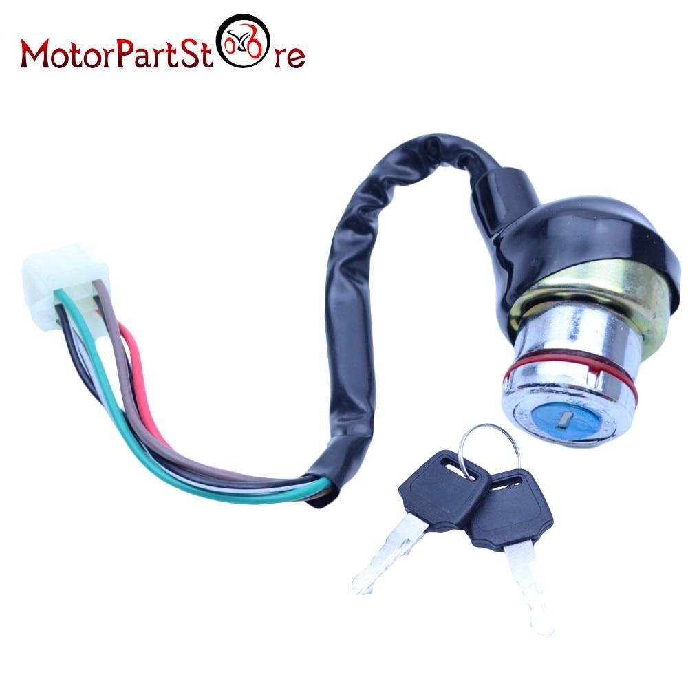 small resolution of 6 wires on off lock ignition key switch for kazuma falcon roketa 50cc 70cc 90cc 110cc 125cc atv quad motor dirt bike motorcycle in motorbike ingition from