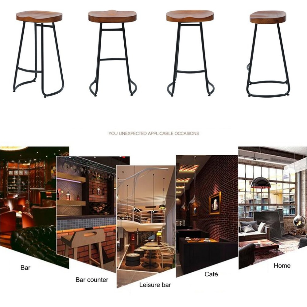Miraculous Newest 70Cm Pub Bar Stool 2 Pcs Backless Barstool Vintage Ocoug Best Dining Table And Chair Ideas Images Ocougorg