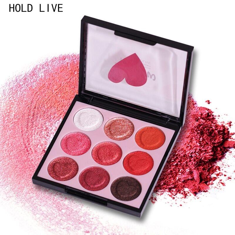 HOLD LIVE Umbra de ochi Palette 9 Culori Glitter Matte Shimmer Fard - Machiaj