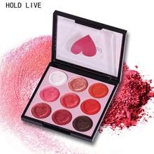 HOLD LIVE Тени для век Палитра 9 цветов Глянцевый матовый мерцатель Длительный теней для век Тени для век Естественный пигментный макияж