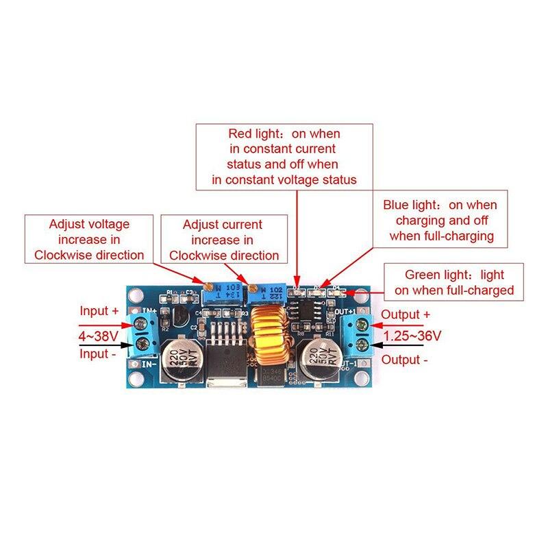 Новый 1 шт. 5A DC CC CV литиевых Батарея шаг Подпушка зарядки <font><b>LED</b></font> Мощность конвертер литиевых Зарядное устройство шаг Подпушка модуль