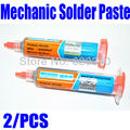 Singapore Post 2013 New 2PCS/Lot 100% Hong Kong MECHANIC BGA Solder Flux Paste Soldering Tin Cream Sn63/Pb37 25-45um XG-40 10CC