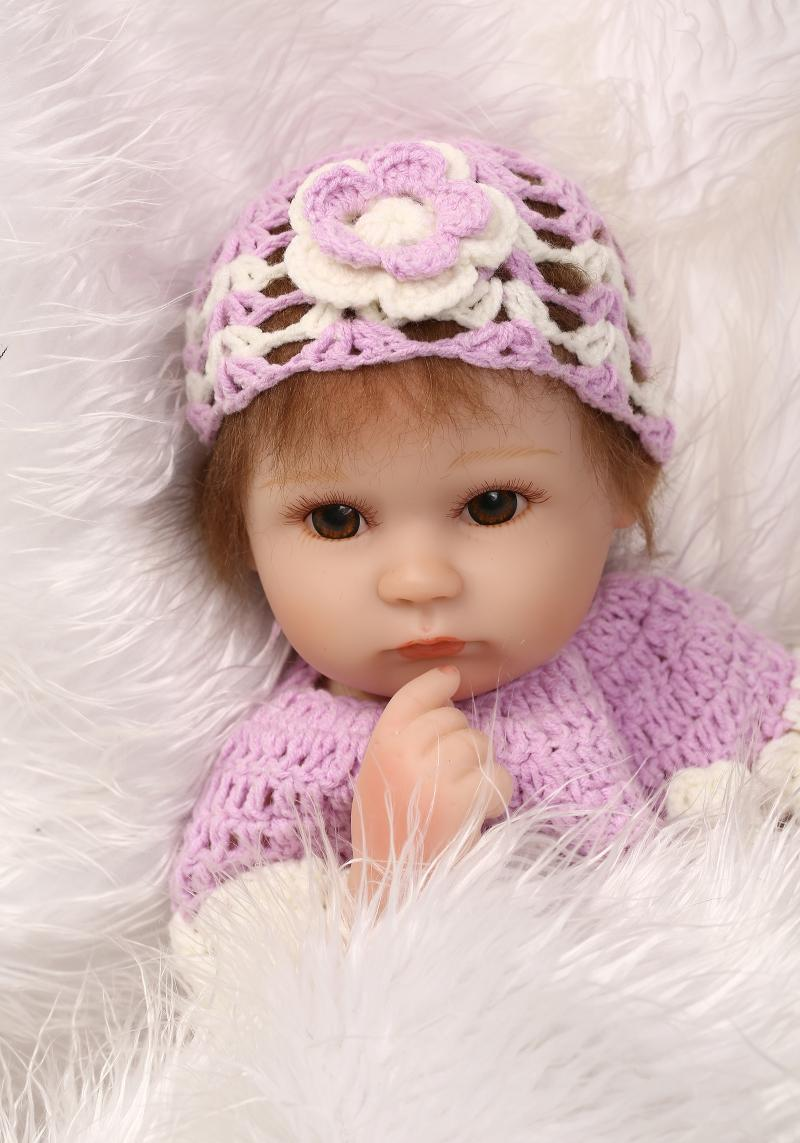 ФОТО 40cm Silicone Reborn Baby Doll kids Playmate Gift For Girls 16 Inch  Alive Baby Soft Toys For Bouquets Doll  Reborn