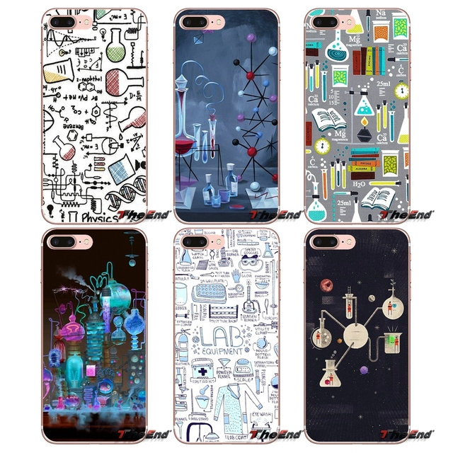 Mobile Phone Cases Chemistry Style Collage For Sony Xperia Z Z1 Z2 Z3 Z5 compact M2 M4 M5 E3 T3 XA Aqua LG G4 G5 G3 G2 Mini Capa