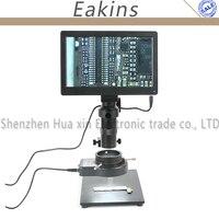 Usb tf карты 5.0MP 9 ''Планшеты pc Цифровой измеримым видео микроскоп Камера + настольная подставка + 100X C крепление объектива + 144 светодиодный коль