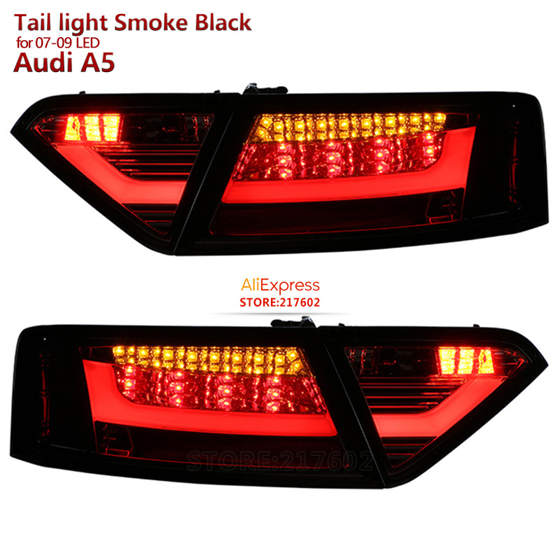 for Audi A5 LED Rear Lights 2008 to 2012 year Replacement for ogirinal car LED models Smoke black ensure fitment & durability