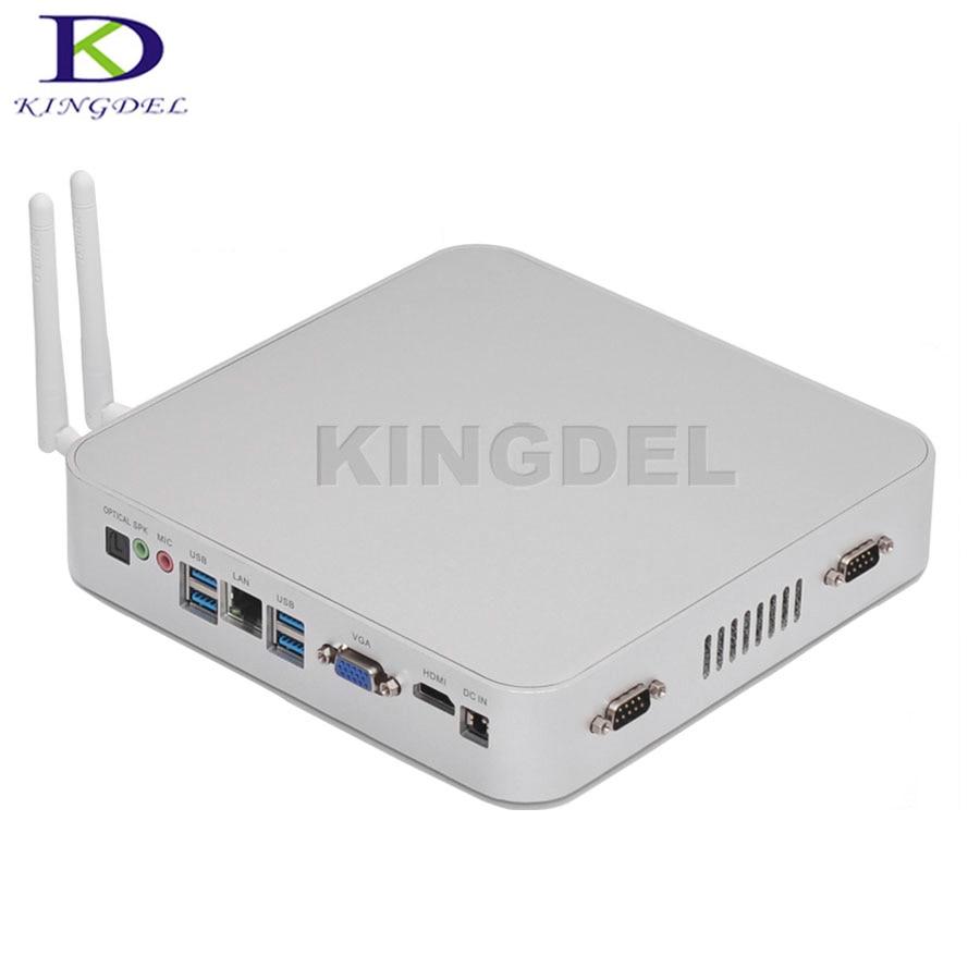 14NM Braswell N3150 Quad Core 6W Low Power Fanless Mini PC Windows8 HTPC Mini Desktop Computer Linux 8G RAM 256G SSD 2 COM VGA
