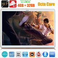 10 pulgadas android tablet pc 3G WCDMA Octa Core 4 GB de RAM 32 GB ROM Android 5.1 IPS GPS wifi 5.0MP 10.1 Phablet DHL envío