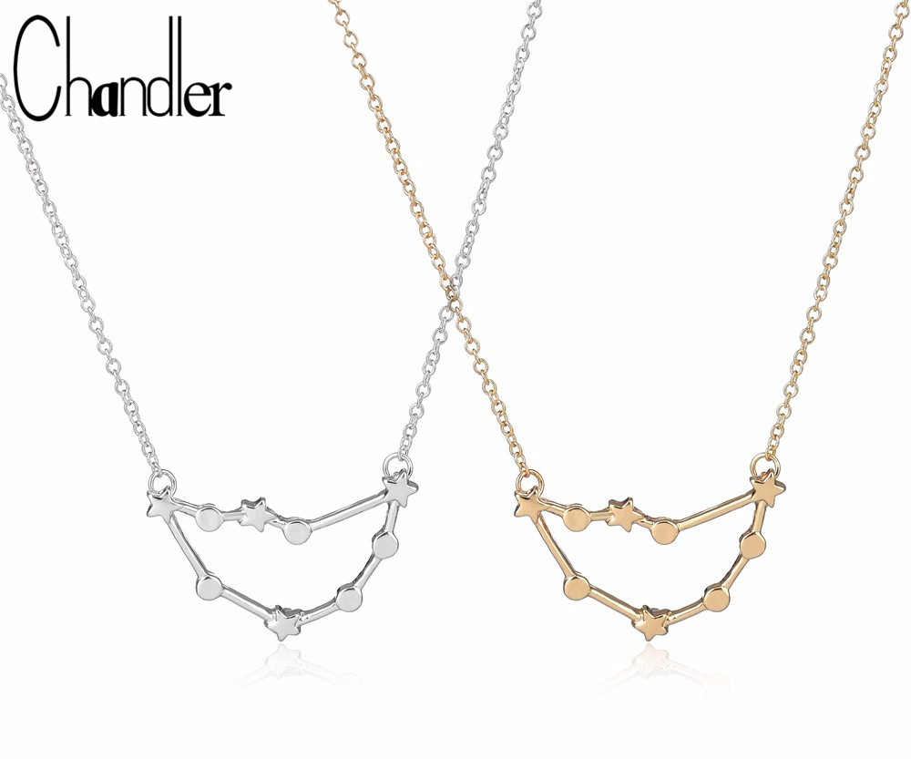 Chandler 1Pc Capricorn Pendant Necklace Magic Zodiac Sign Jewelry Astrology 12 Constellation Coliers For Women Birthday Gift