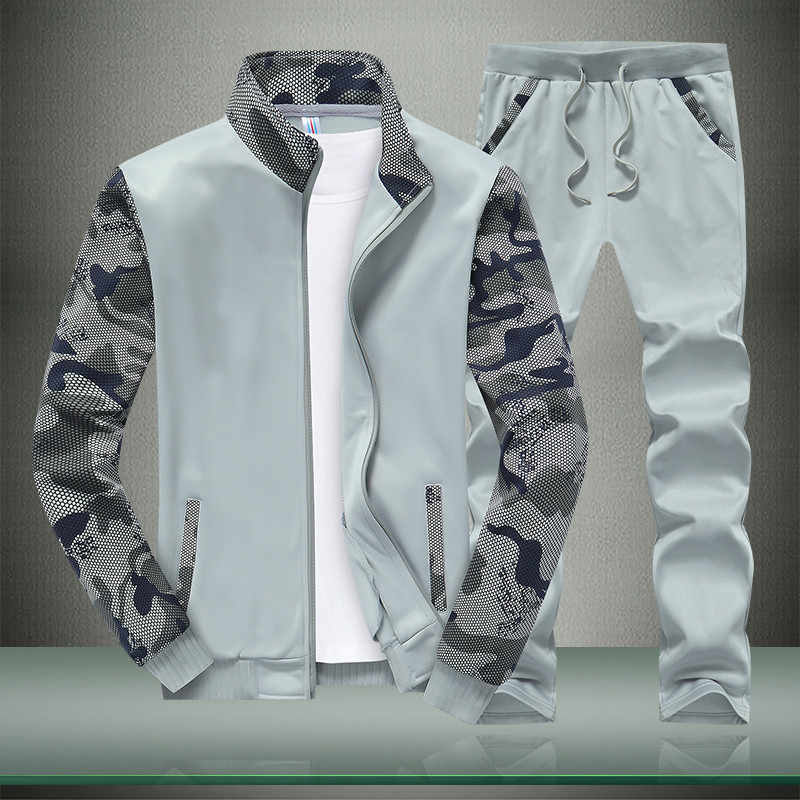 Riinr 2018 Lente Mannen Set Kwaliteit Fleece Sweatshirt + Broek Mannelijke Trainingspak Sporting Zweet Suits Mens Survetement Sportkleding
