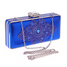 Bamboo Charm Fashion Solid Women Evening Party Clutch Casual Flap Crystal Flower Handbag Shoulder Bag Crossbody Messenger Buckle