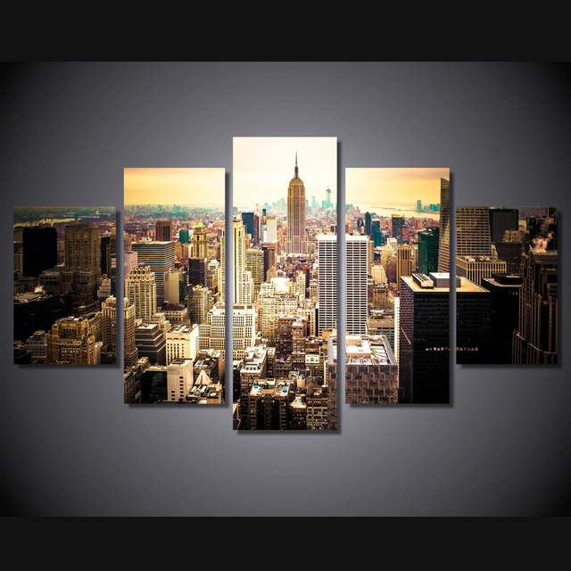 new 5 pieces sets canvas art canvas paintings hd new york city for
