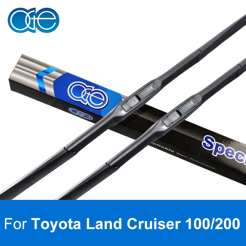 цена на Oge 24''+22'' Wiper Blades For Toyota Land Cruiser 100 / 200 High Quality Rubber Windshield Windscreen Car Accessories