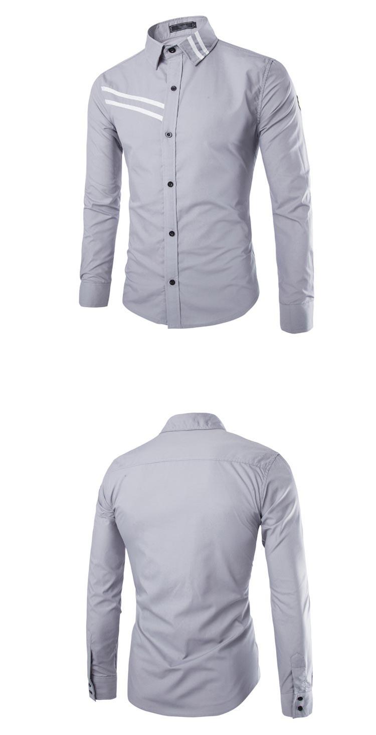 2dbc18c4830 New Purple Men Shirt Chemise Homme 2016 Fashion Design Long Sleeve ...