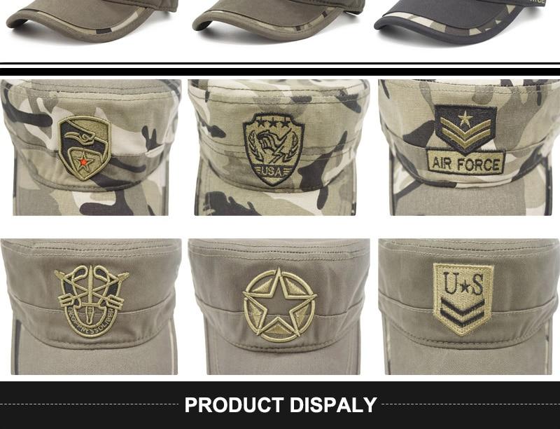 men cotton camouflage cap