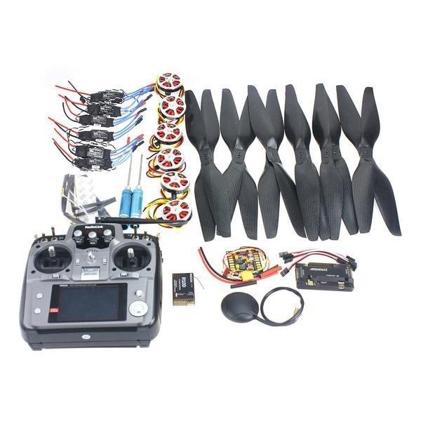 F05422 G 6 оси Складная стойка RC Quadcopter комплект APM2.8 полета Управление доска + gps + 750KV двигатель + 15x5,5 пропеллер + 30A ESC + AT10 TX
