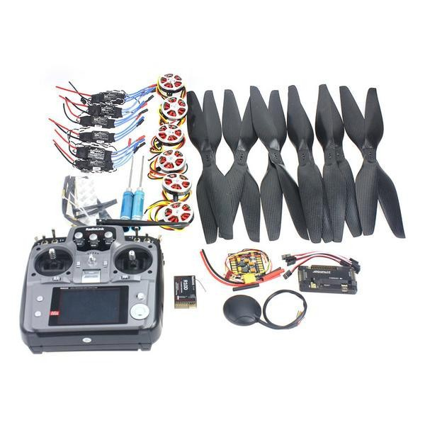 F05422-G 6 Axis Foldable Rack RC Quadcopter Kit APM2.8 Flight Control Board+GPS+750KV Motor+15x5.5 Propeller+30A ESC+AT10 TX f02015 f 6 axis foldable rack rc quadcopter kit with kk v2 3 circuit board 1000kv brushless motor 10x4 7 propeller 30a esc