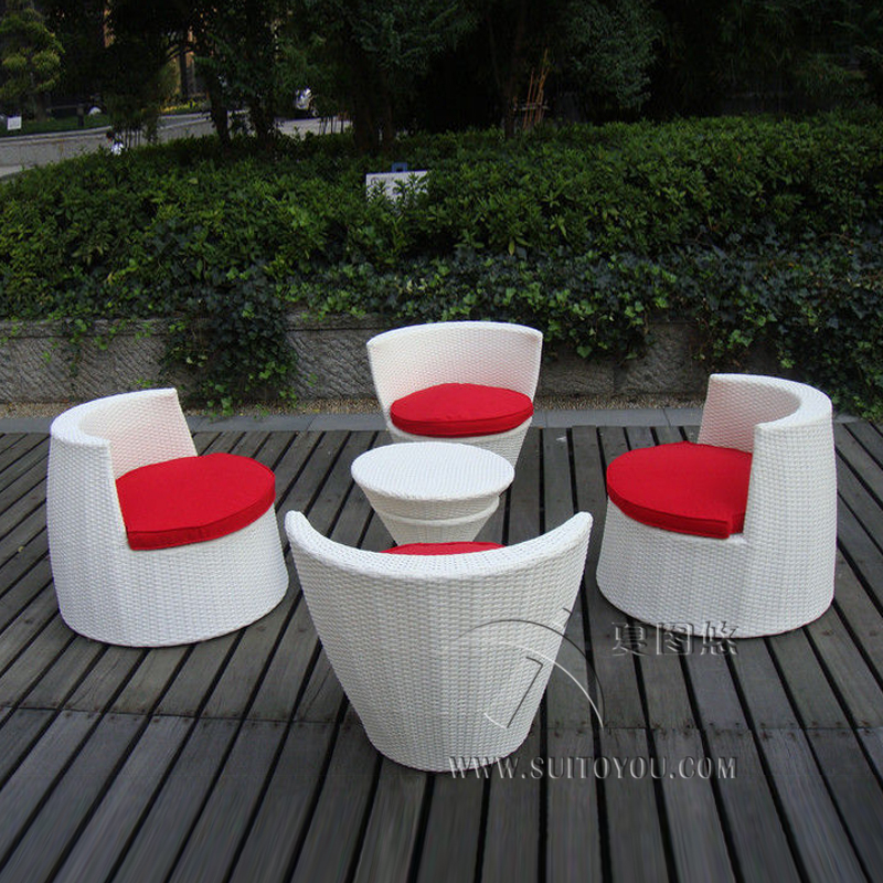 5 pcs All Weather PE Rattan Obelisk Chair For Office / Patio Leisure transport by sea лопата truper pcl pe 31174