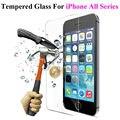 HD clear! 2.5d 0.3mm templado superior de cristal protector de pantalla para iphone 5 5S 5tilizar 6 6 s 6 plus 7 7 más templado de protección película