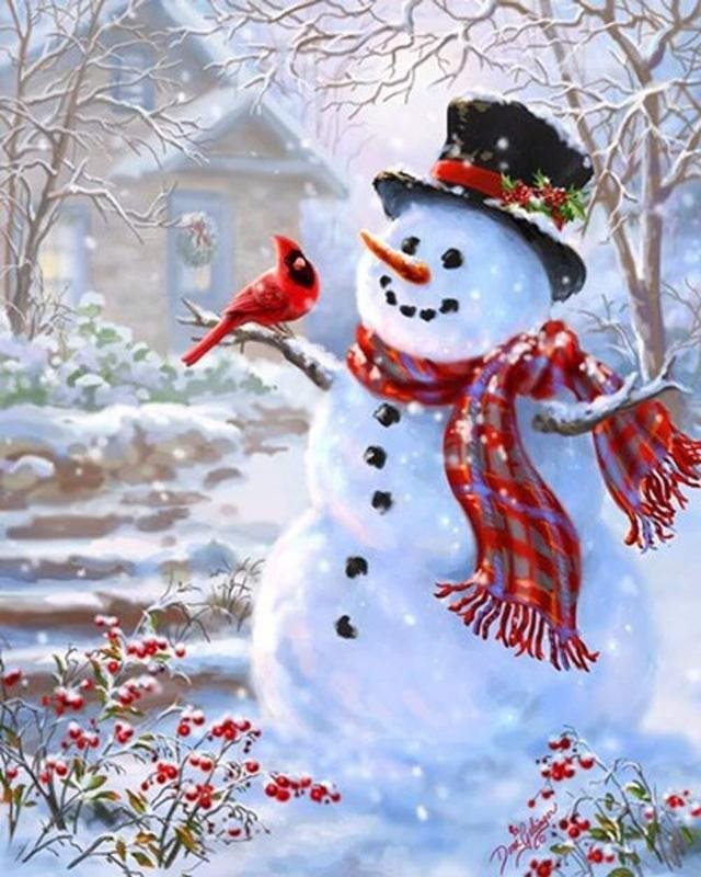 Christmas snowman DIY diamond painting Christams snowman 5D diamond embroidery snowman diamond mosaic full square painting sale