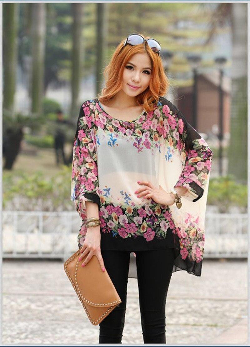 e06eb185 Low price sale women plus size blouses flower printed summer blusas ...