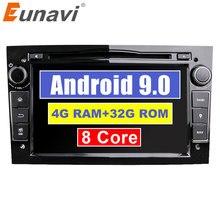 """Eunavi Octa Core 7 """"2 Din Android 9.0 1024*600 HD Lettore DVD Dell'automobile Per Opel Astra Vectra antara Zafira corsa GPS della Radio di Navigazione"""