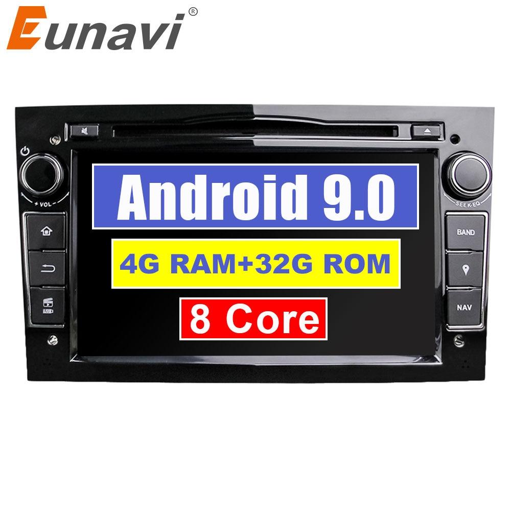 Eunavi Octa Core 7 ''2 Din Android 9.0 1024*600 HD lecteur DVD de voiture pour Opel Astra Vectra Antara Zafira Corsa GPS Navigation Radio