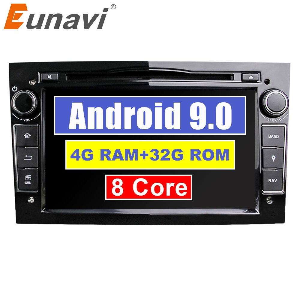 Octa Núcleo 7 Eunavi ''2 Din Android 9.0 1024*600 HD DVD Player Do Carro Para Opel Astra Vectra antara Zafira Corsa Rádio de Navegação GPS