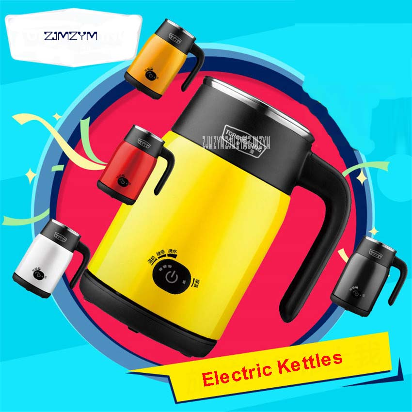 220V/600W 0.5L Super Mini Electric kettle A must for overseas travel light Tea pot Stainless steel body 3 gear Suit baby DK342 titanium multifunction buckle key chain kettle buckle never rust super light wear resistance outdoor travel essential equipment