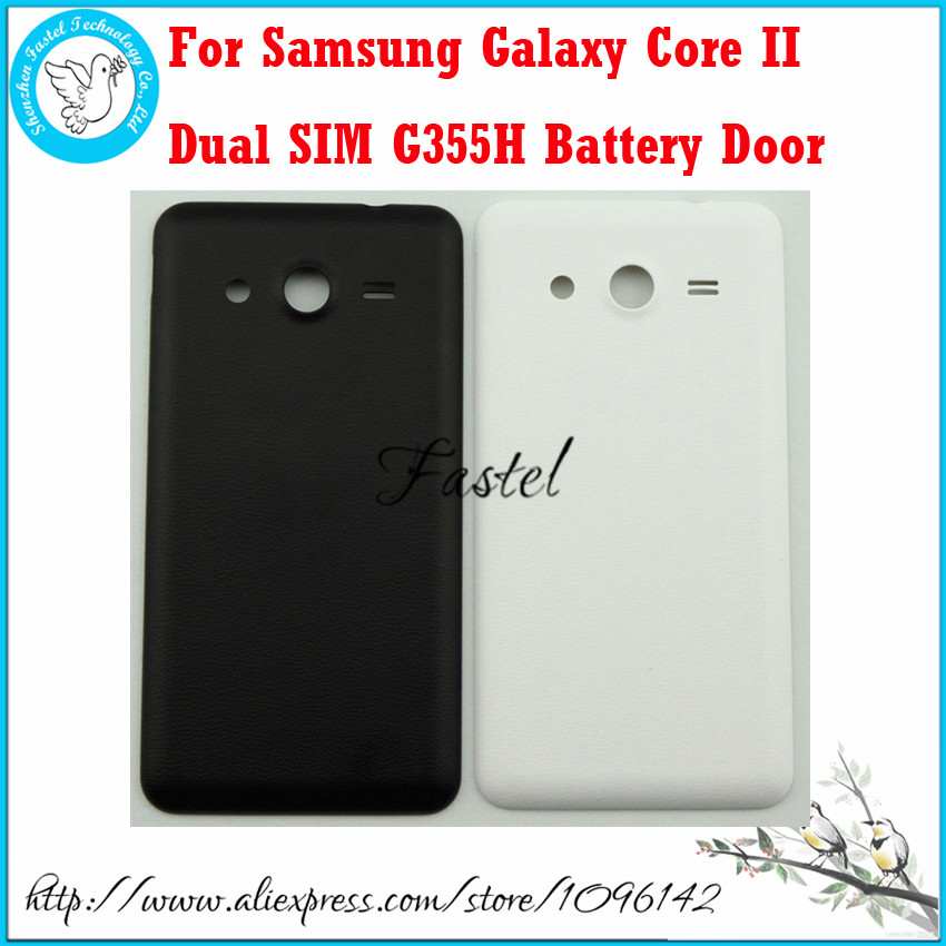 For Samsung Galaxy Core II 2 Dual SIM G355H G355 New Original Phone housing cover case Back Battery door cover + Free shipping