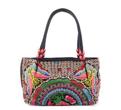 Promotion Women S Vintage Hmong Tribal Ethnic Boho Hot Lady Shoulder Handbag Bag Linen Embroidery Handbags Tapestry In Top Handle Bags From Luggage