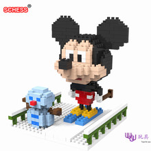 SC: Mickey snowman 1031 Diamond Micro Nano Building Blocks Action Figure boy & girl gifts