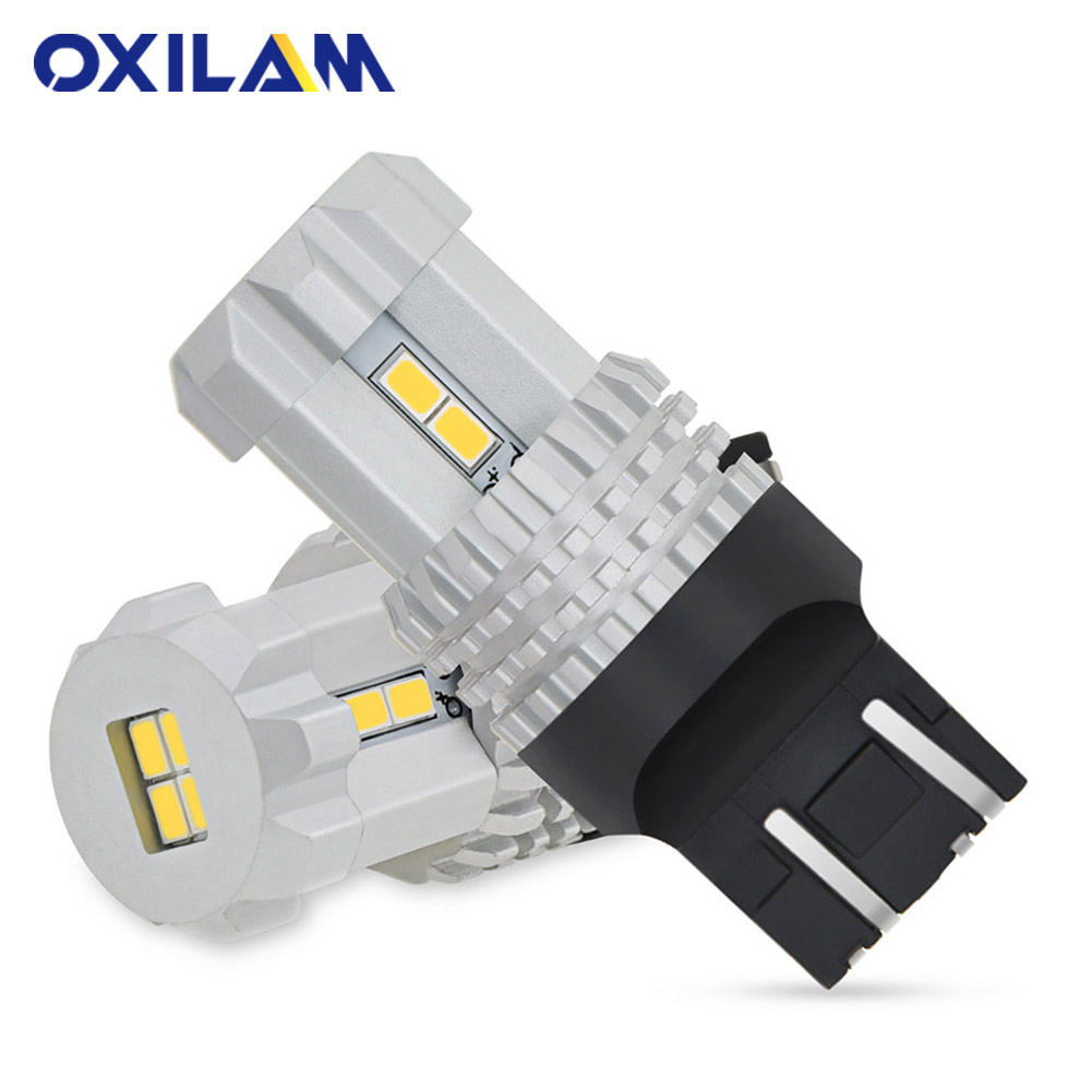 2Pcs T20 LED 7440 7443 W21 5W W21W WY21W Bulb 3020 12SMD Daytime Running Light DRL Brake Tail Lamp Car Reverse Lights White Red