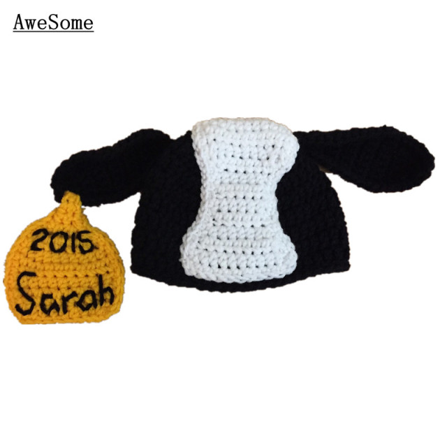 Novelty Cow Hathandmade Knit Crochet Baby Boy Girl Animal Hat With