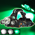 BORUIT Green XPE Light 6000 Lumen XM-L T6+XPE LED Headlamp 3 Modes Led Head Lamps Headlight lampe frontal for Fishing Hunting