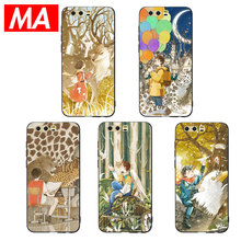 MA Lovely Fairy-tale style Phone Case For Huawei P20 P10 P9 Lite Pro Cases Ultra-thin TPU Cover For Honor 8 9 10 Lite Mate 10 20