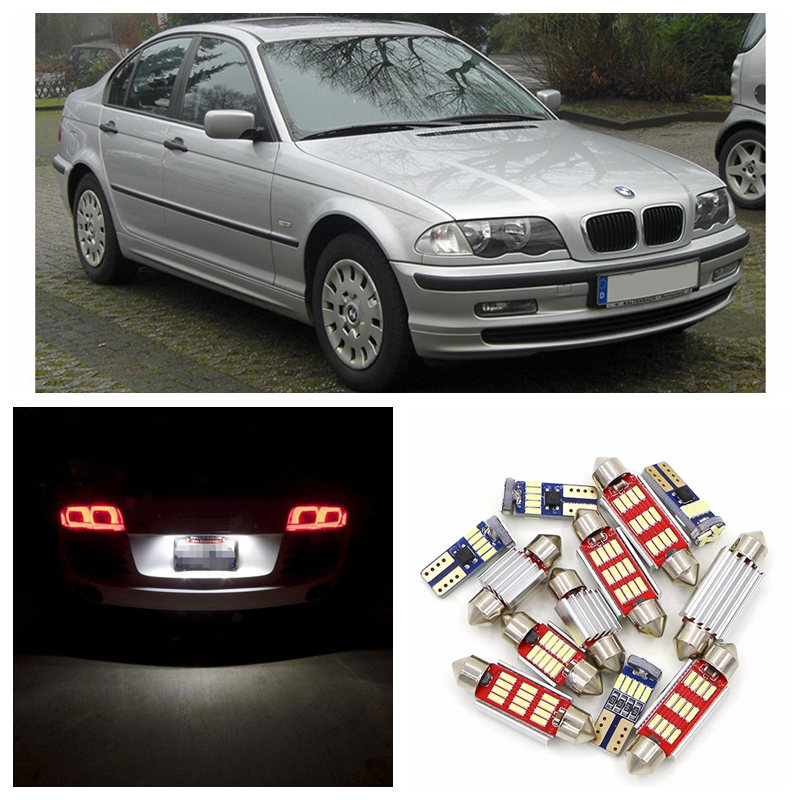 20pcs Super Bright White Canbus Car LED Light Bulbs Interior Package Kit For 1999-2004 BMW 3 Series BMW E46 License Plate Lamp 17pcs led canbus interior lights kit package for bmw 5 series e60 e61 2004 2010