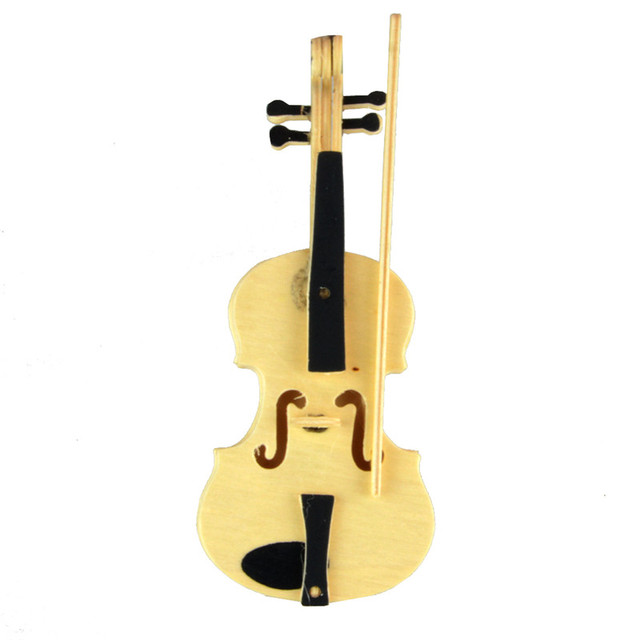 Toy Violins For 3 And Up : Starz d wooden musical instruments violin puzzles toys