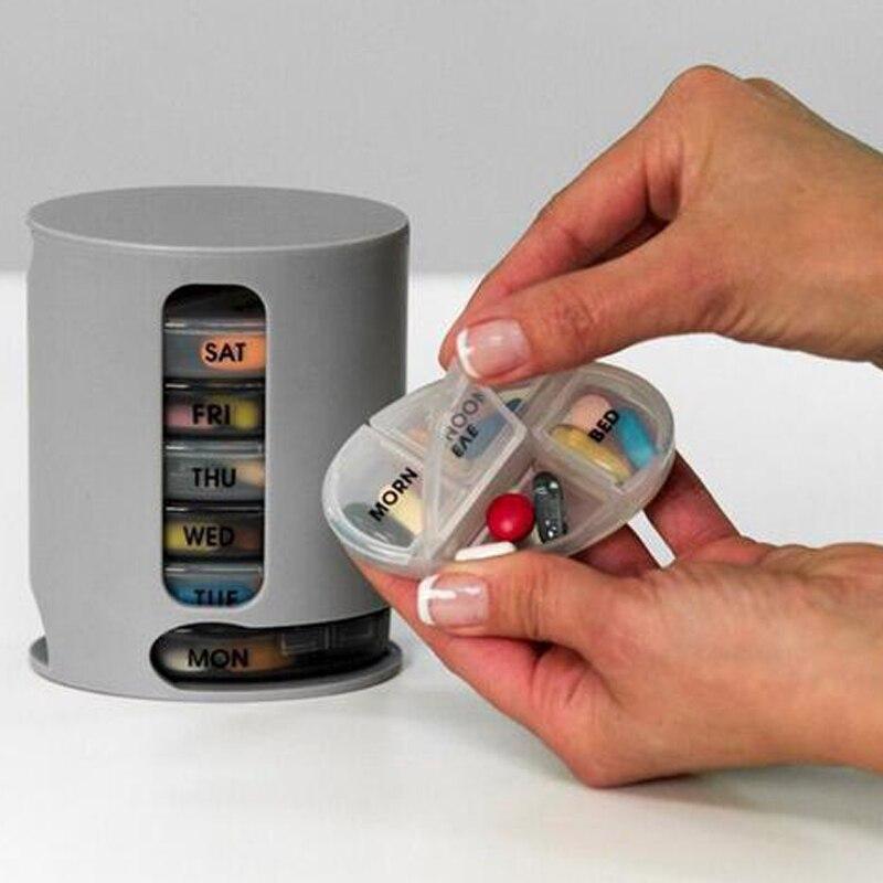 SDFC-7 День Pill органайзер для хранения Чехол компактный ткани Мини Pill хранения ящик для хранения наркотиков