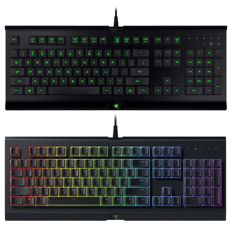 Razer CYNOSA 104 touches filaire clavier de jeu USB pour ordinateur avec rétro-éclairage clavier à Membrane pour les jeux LOL PUBG