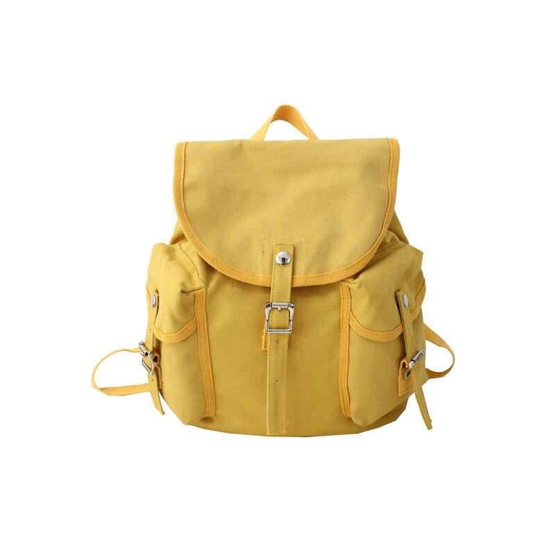 Menghuo Women Korean Canvas Backpack Bag for Girl New Vintage Shoulder Female Casual Travel Multi-pocket