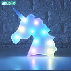 Unicornio led luzes da noite unicórnio festa 3d led candeeiro de mesa novidade animal marquise sinal carta lâmpada luminaria bebê crianças brinquedos presente