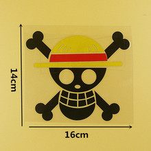 One Piece Skulls Decals Sticker 19x9cm