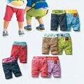 Verano Cortocircuitos Del Bebé para Niños Niñas de Algodón de Playa Casual Corto Patchwork Taparrabos Cortocircuitos de Los Niños Suaves Pantalones Cortos Pantalones